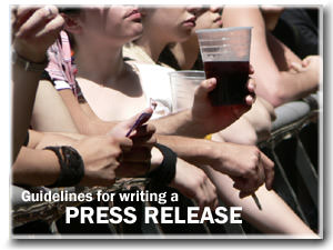 Guidelines for Writing A Press Release